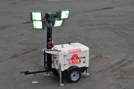 עגלת תאורה בעלת 4 פנסים של חברת אלרם