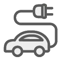 מכונית עם כבל חשמלי שיוצא מחלקה האחורי